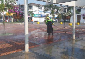 Programa desinfeccion del espacio público por COVID-19